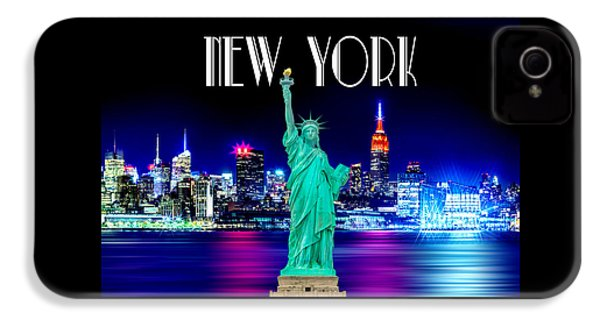 New York Shines IPhone 4 Case by Az Jackson