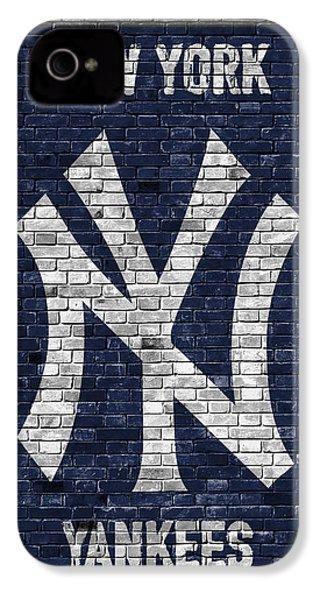 New York Yankees Brick Wall IPhone 4 Case
