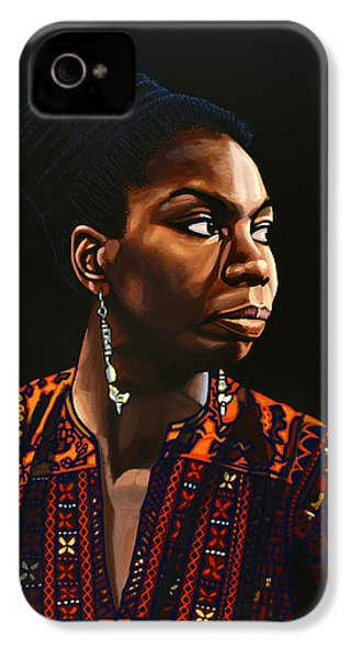 Nina Simone Painting IPhone 4 Case by Paul Meijering