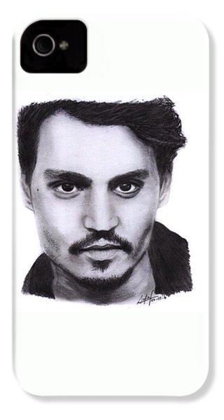 Johnny Depp Drawing By Sofia Furniel IPhone 4 Case