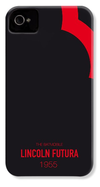 No006 My Batmobile Minimal Movie Car Poster IPhone 4 / 4s Case by Chungkong Art