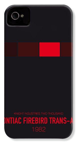 No019 My Knight Rider Minimal Movie Car Poster IPhone 4 Case by Chungkong Art