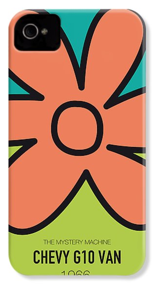No020 My Scooby Doo Minimal Movie Car Poster IPhone 4 Case by Chungkong Art