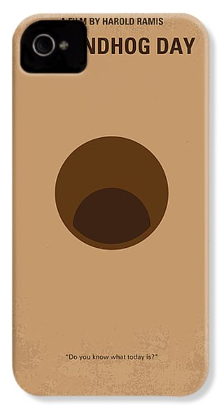 No031 My Groundhog Minimal Movie Poster IPhone 4 Case by Chungkong Art