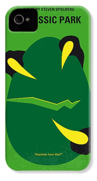 No047 My Jurassic Park Minimal Movie Poster IPhone 4 Case by Chungkong Art