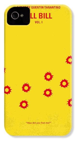 No048 My Kill Bill -part 1 Minimal Movie Poster IPhone 4 Case by Chungkong Art