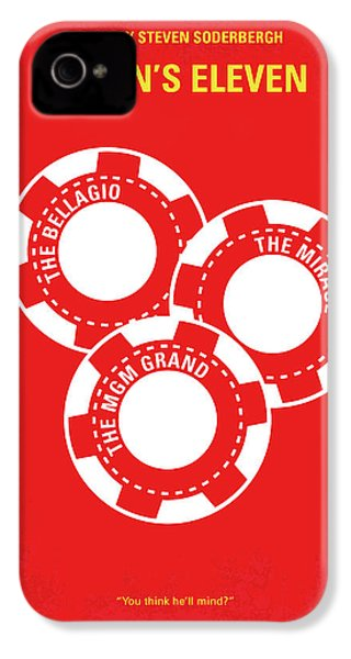 No056 My Oceans 11 Minimal Movie Poster IPhone 4 Case by Chungkong Art