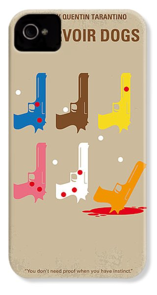 No069 My Reservoir Dogs Minimal Movie Poster IPhone 4 Case