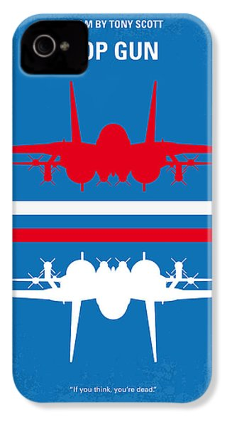 No128 My Top Gun Minimal Movie Poster IPhone 4 Case