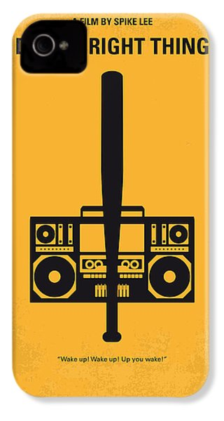 No179 My Do The Right Thing Minimal Movie Poster IPhone 4 Case by Chungkong Art