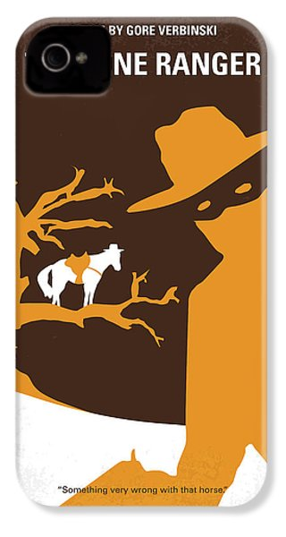 No202 My The Lone Ranger Minimal Movie Poster IPhone 4 Case by Chungkong Art