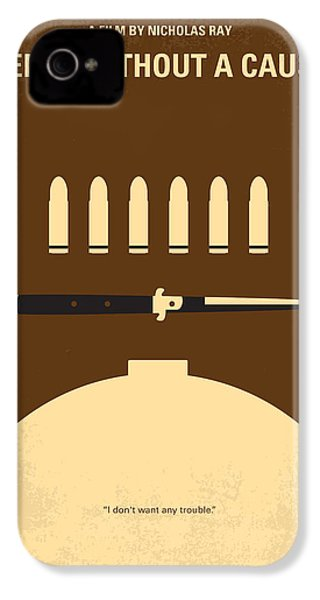 No318 My Rebel Without A Cause Minimal Movie Poster IPhone 4 Case by Chungkong Art