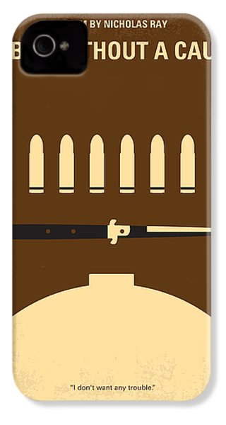 No318 My Rebel Without A Cause Minimal Movie Poster IPhone 4 Case