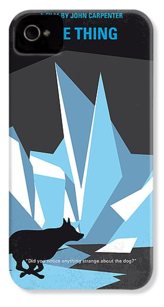 No466 My The Thing Minimal Movie Poster IPhone 4 / 4s Case by Chungkong Art