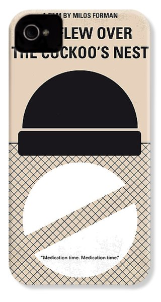 No454 My One Flew Over The Cuckoos Nest Minimal Movie Poster IPhone 4 Case by Chungkong Art