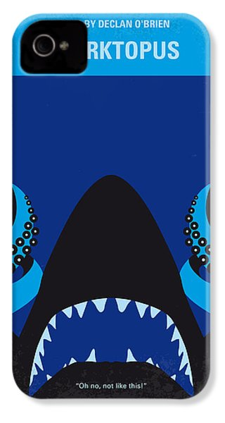 No485 My Sharktopus Minimal Movie Poster IPhone 4 Case by Chungkong Art