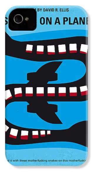 No501 My Snakes On A Plane Minimal Movie Poster IPhone 4 Case
