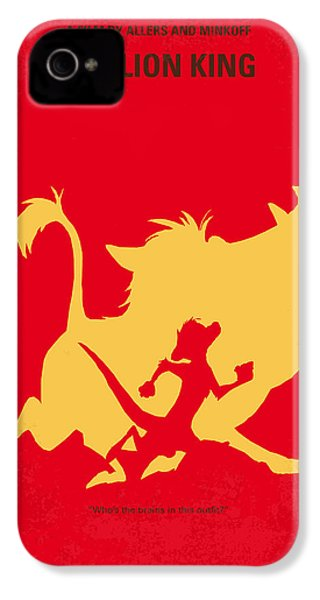No512 My The Lion King Minimal Movie Poster IPhone 4 Case by Chungkong Art