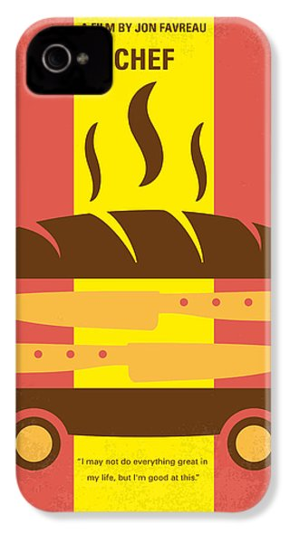 No524 My Chef Minimal Movie Poster IPhone 4 / 4s Case by Chungkong Art