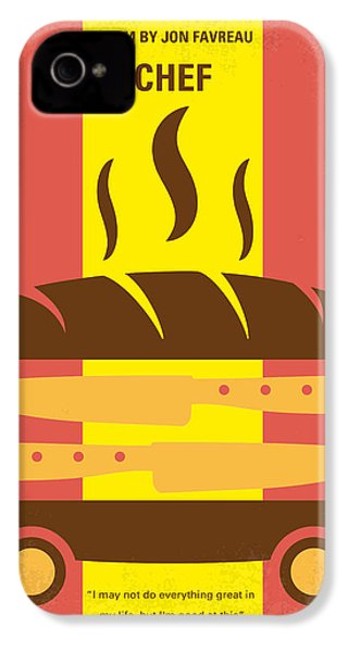 No524 My Chef Minimal Movie Poster IPhone 4 Case by Chungkong Art