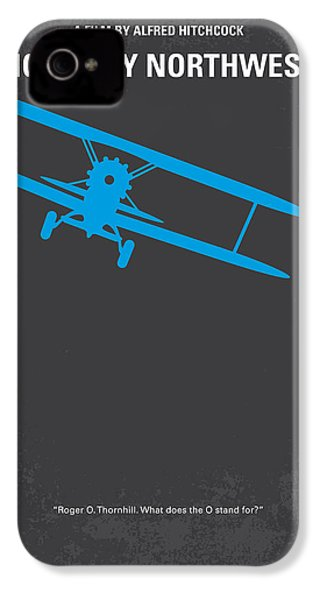 No535 My North By Northwest Minimal Movie Poster IPhone 4 / 4s Case by Chungkong Art