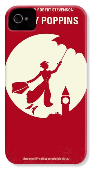 No539 My Mary Poppins Minimal Movie Poster IPhone 4 Case by Chungkong Art