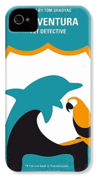 No558 My Ace Ventura Minimal Movie Poster IPhone 4 Case