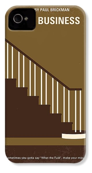 No615 My Risky Business Minimal Movie Poster IPhone 4 Case by Chungkong Art