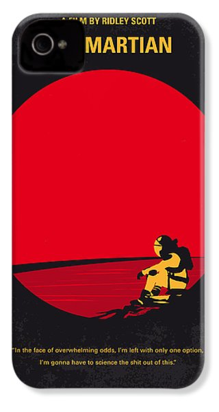 No620 My The Martian Minimal Movie Poster IPhone 4 / 4s Case by Chungkong Art