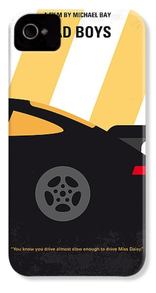No627 My Bad Boys Minimal Movie Poster IPhone 4 / 4s Case by Chungkong Art