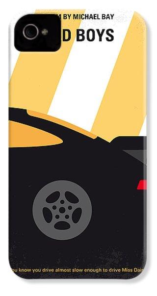 No627 My Bad Boys Minimal Movie Poster IPhone 4 Case by Chungkong Art