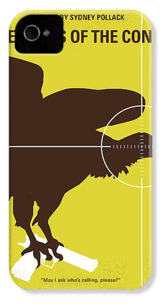 No659 My Three Days Of The Condor Minimal Movie Poster IPhone 4 Case