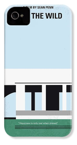 No677 My Into The Wild Minimal Movie Poster IPhone 4 Case by Chungkong Art