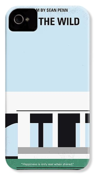 No677 My Into The Wild Minimal Movie Poster IPhone 4 Case
