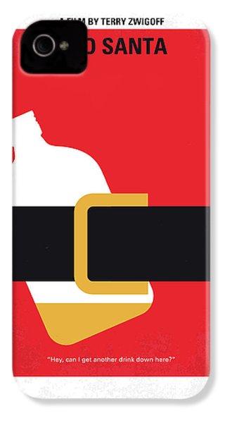 No702 My Bad Santa Minimal Movie Poster IPhone 4 Case by Chungkong Art