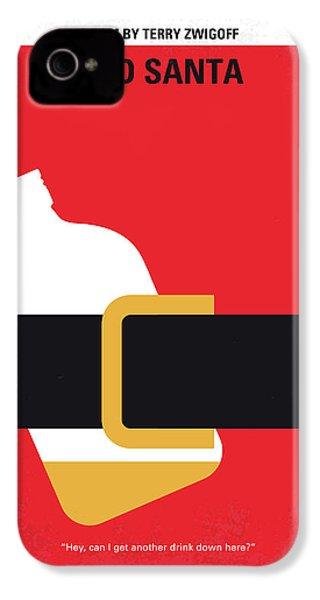 No702 My Bad Santa Minimal Movie Poster IPhone 4 Case