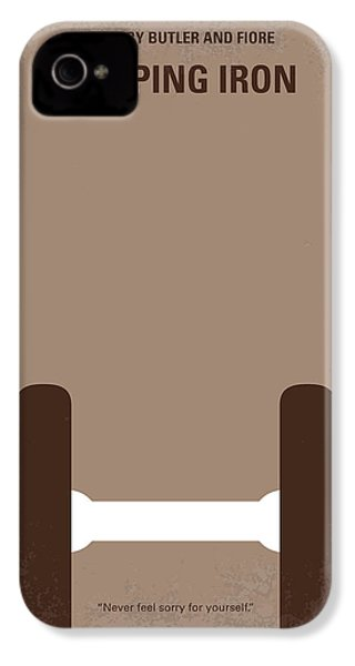 No707 My Pumping Iron Minimal Movie Poster IPhone 4 Case by Chungkong Art