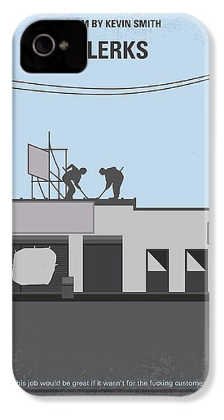No715 My Clerks Minimal Movie Poster IPhone 4 Case by Chungkong Art
