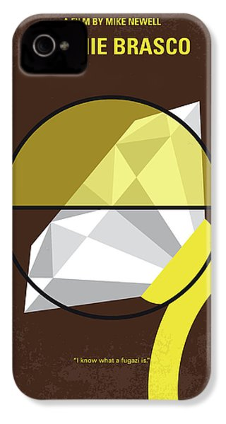 No766 My Donnie Brasco Minimal Movie Poster IPhone 4 Case by Chungkong Art