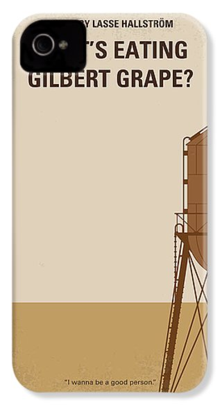 No795 My Whats Eating Gilbert Grape Minimal Movie Poster IPhone 4 Case by Chungkong Art