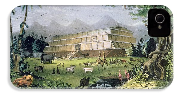Noahs Ark IPhone 4 Case by Currier and Ives