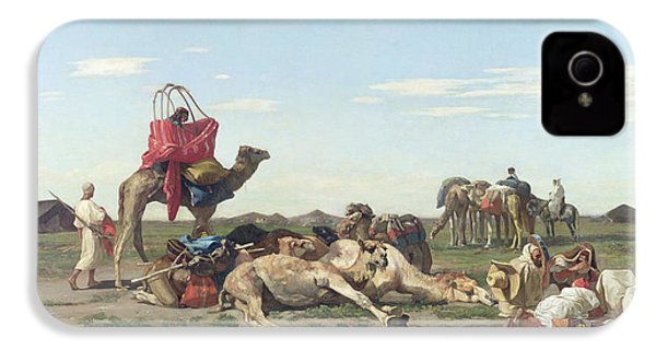 Nomads In The Desert IPhone 4 Case by Georges Washington