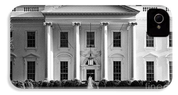north facade from pennsylvania avenue the white house Washington DC USA IPhone 4 Case