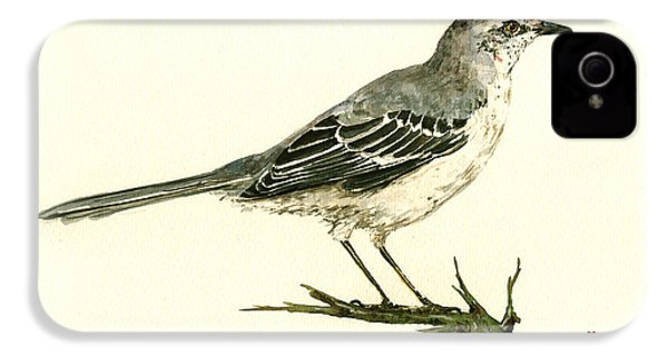 Northern Mockingbird IPhone 4 Case by Juan  Bosco