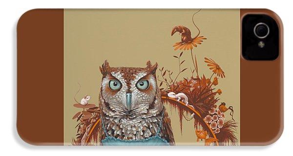 Northern Screech Owl IPhone 4 Case by Jasper Oostland