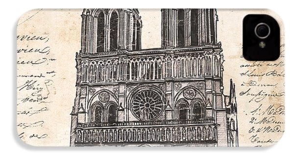 Notre Dame De Paris IPhone 4 / 4s Case by Debbie DeWitt
