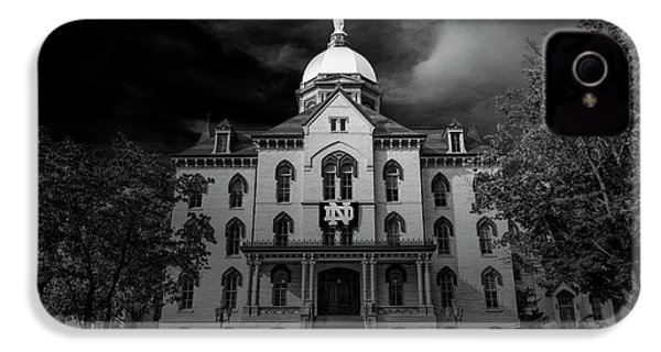 Notre Dame University Black White 3a IPhone 4 / 4s Case by David Haskett