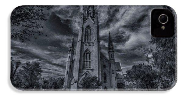 Notre Dame University Church IPhone 4 Case by David Haskett