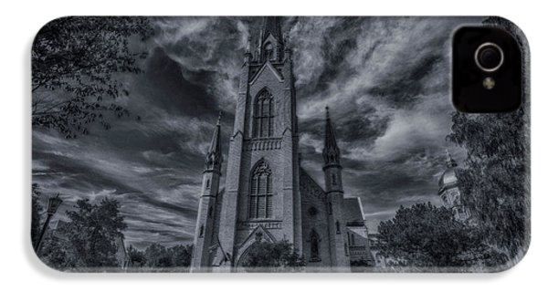 Notre Dame University Church IPhone 4 / 4s Case by David Haskett
