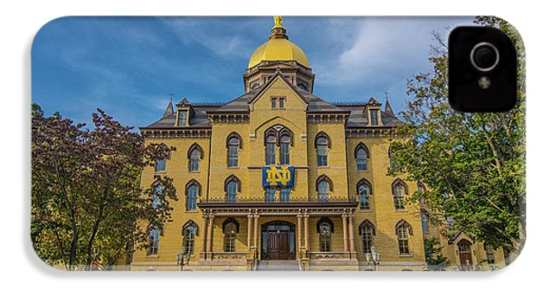 Notre Dame University Golden Dome IPhone 4 / 4s Case by David Haskett